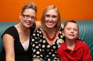 Kyrsten with Amy Milliron and her son